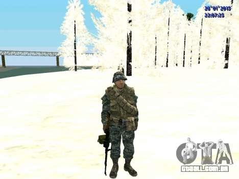 As forças especiais da Federação russa (CoD Blac para GTA San Andreas segunda tela