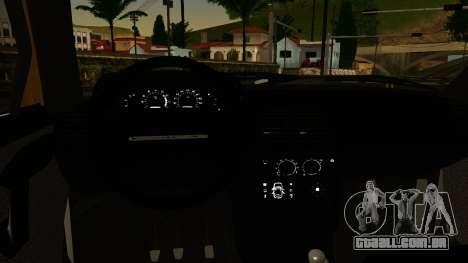 VAZ 2112 para GTA San Andreas traseira esquerda vista