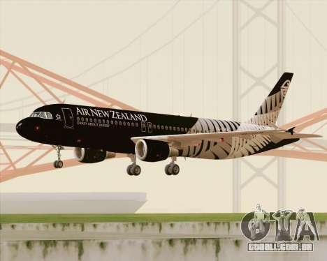 Airbus A320-200 Air New Zealand para GTA San Andreas esquerda vista