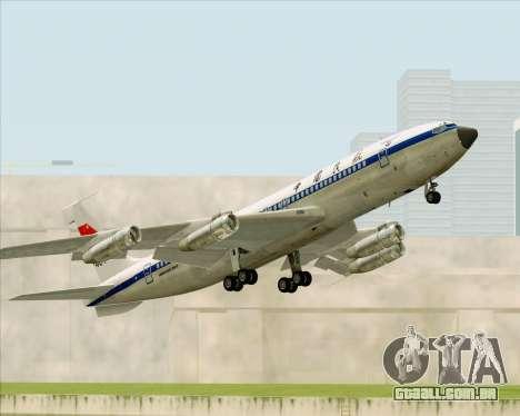 Boeing 707-300 CAAC para vista lateral GTA San Andreas