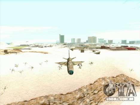 MiG 21 da força aérea Soviética para GTA San Andreas vista traseira