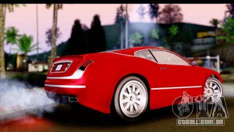 GTA 5 Enus Cognoscenti Cabrio IVF para GTA San Andreas esquerda vista