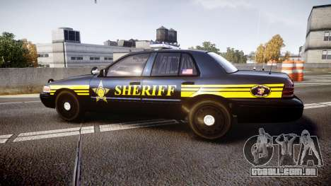 Ford Crown Victoria Sheriff [ELS] black para GTA 4 esquerda vista