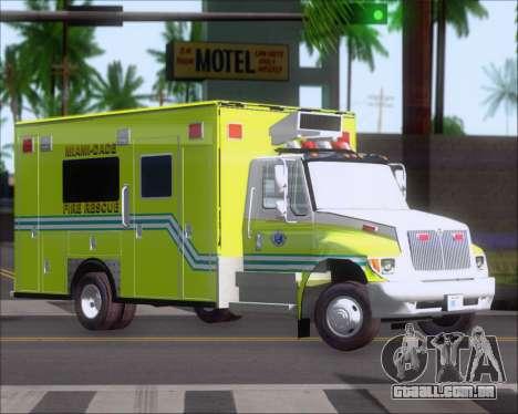Pierce Commercial Miami Dade Fire Rescue 12 para GTA San Andreas esquerda vista
