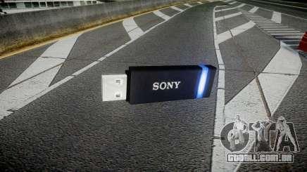 A unidade flash USB da Sony azul para GTA 4