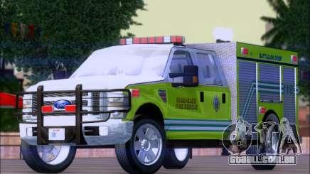 Ford F350 XLT Super Duty MDFD Batalion Chief 12 para GTA San Andreas