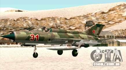 MiG 21 da força aérea Soviética para GTA San Andreas