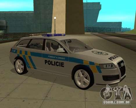 Audi RS6 Combi Police Czech Republic para GTA San Andreas traseira esquerda vista