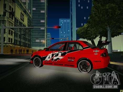 Mitsubishi Lancer Tokyo Drift para vista lateral GTA San Andreas