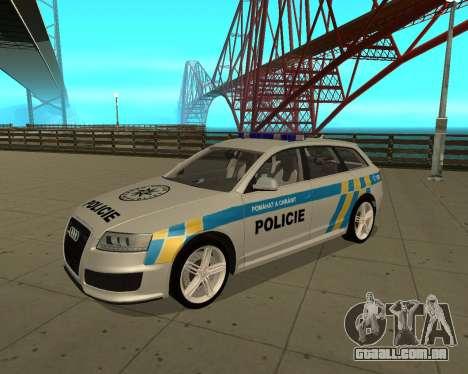 Audi RS6 Combi Police Czech Republic para GTA San Andreas