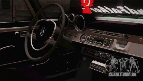 Mercedes-Benz 300 SEL DRY Garage para GTA San Andreas vista traseira