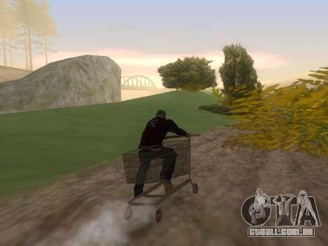 Shopping Cart para GTA San Andreas esquerda vista