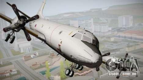 Lockheed P-3 Orion MLD New para GTA San Andreas vista traseira