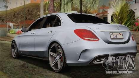Mercedes-Benz C250 AMG Edition 2014 SA Plate para GTA San Andreas esquerda vista