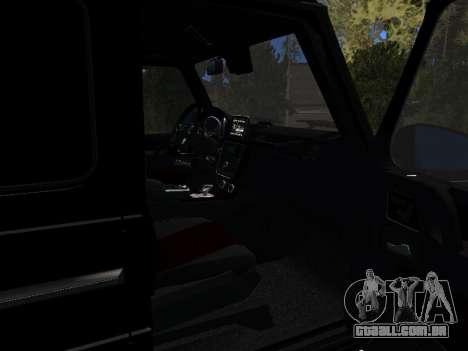 Mercedes-Benz G63 AMG para GTA San Andreas vista traseira