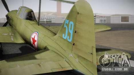 ИЛ-10 Korean Air Force para GTA San Andreas traseira esquerda vista