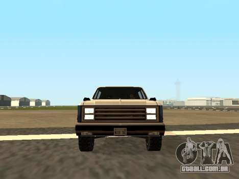 Rancher Four Door para GTA San Andreas vista traseira