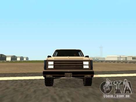 Rancher Four Door para GTA San Andreas vista traseira