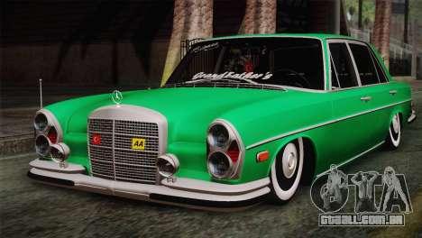 Mercedes-Benz 300 SEL DRY Garage para GTA San Andreas
