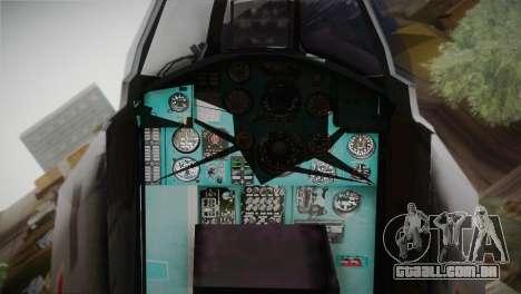 MIG 31 Estovakian Air Force para GTA San Andreas vista direita
