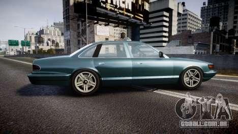 GTA V Vapid Stanier new wheels para GTA 4 esquerda vista
