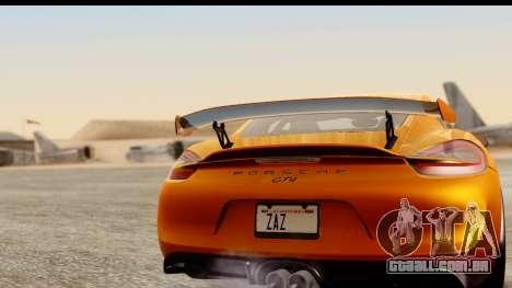 Porsche Cayman GT4 981c 2016 para GTA San Andreas vista direita