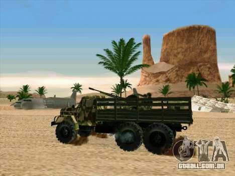 ZIL 131 Shaitan Arba para vista lateral GTA San Andreas