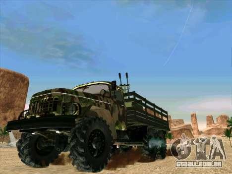 ZIL 131 Shaitan Arba para GTA San Andreas traseira esquerda vista