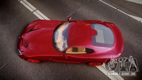 Dodge Viper SRT 2013 rims1 para GTA 4 vista direita