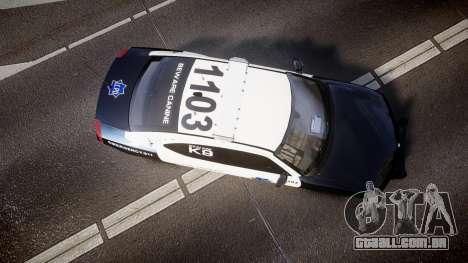 Dodge Charger 2010 LCPD K9 [ELS] para GTA 4 vista direita