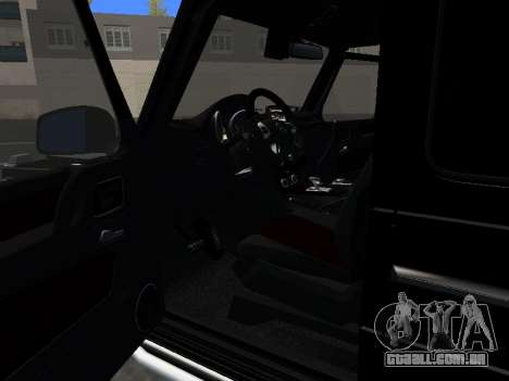 Mercedes-Benz G63 AMG para GTA San Andreas vista interior