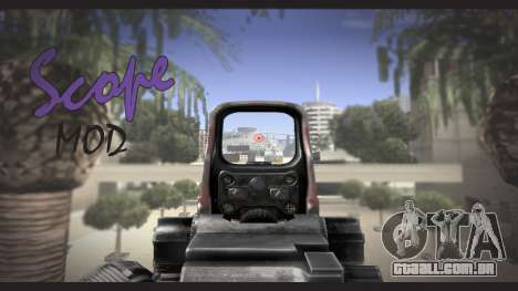 Sniper scope mod para GTA San Andreas