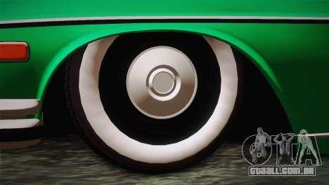 Mercedes-Benz 300 SEL DRY Garage para GTA San Andreas traseira esquerda vista