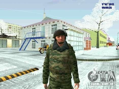 Lutador da MIA no inverno uniformes para GTA San Andreas terceira tela
