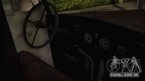 Opel Blitz (CoD: World at War) para GTA San Andreas vista direita