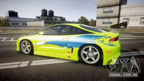 Mitsubishi Eclipse GSX 1995 Furious v3.0 para GTA 4 esquerda vista