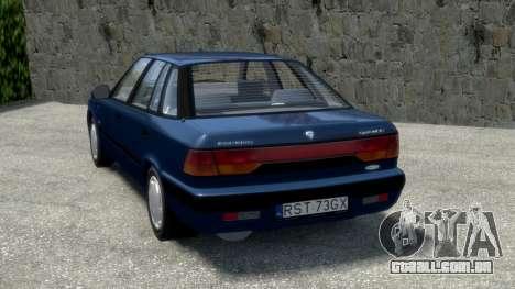 Daewoo Espero 1.5 GLX 1996 para GTA 4 traseira esquerda vista