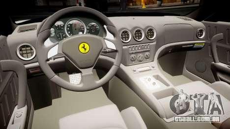 Ferrari 575M Maranello 2002 para GTA 4 vista de volta