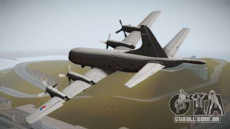Lockheed P-3 Orion MLD New para GTA San Andreas esquerda vista