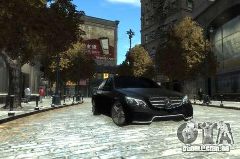 Mercedes-Benz E63 W212 AMG para GTA 4 esquerda vista