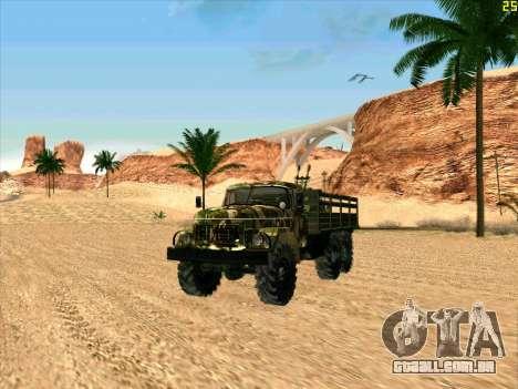 ZIL 131 Shaitan Arba para GTA San Andreas esquerda vista