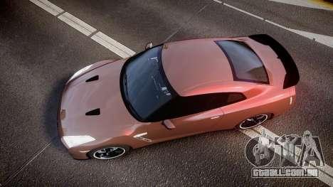 Nissan R35 GT-R V.Spec 2010 para GTA 4 vista direita