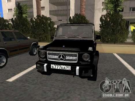Mercedes-Benz G63 AMG para GTA San Andreas esquerda vista