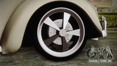 Volkswagen Fusca 1974 para GTA San Andreas traseira esquerda vista