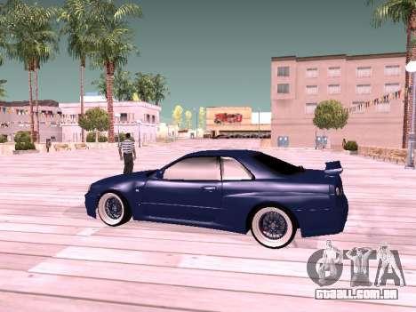 Nissan Skyline para GTA San Andreas traseira esquerda vista