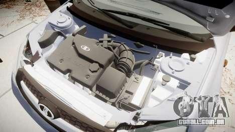 VAZ-2194 Lada Kalina 2 rims1 para GTA 4 vista de volta