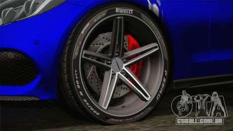 Mercedes-Benz C250 AMG Edition 2014 SA Plate para GTA San Andreas traseira esquerda vista