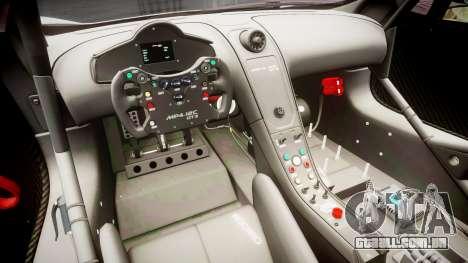 McLaren MP4-12C GT3 Haruhi Itasha para GTA 4 vista de volta