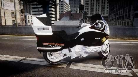 BMW K1200LT Police [ELS] para GTA 4 esquerda vista