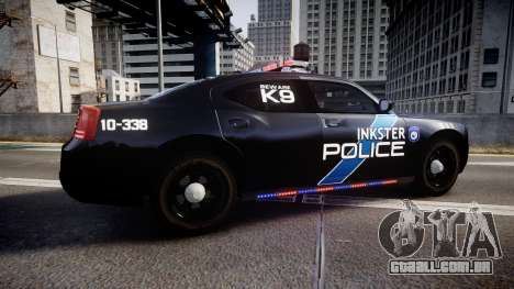 Dodge Charger 2010 Police K9 [ELS] para GTA 4 esquerda vista